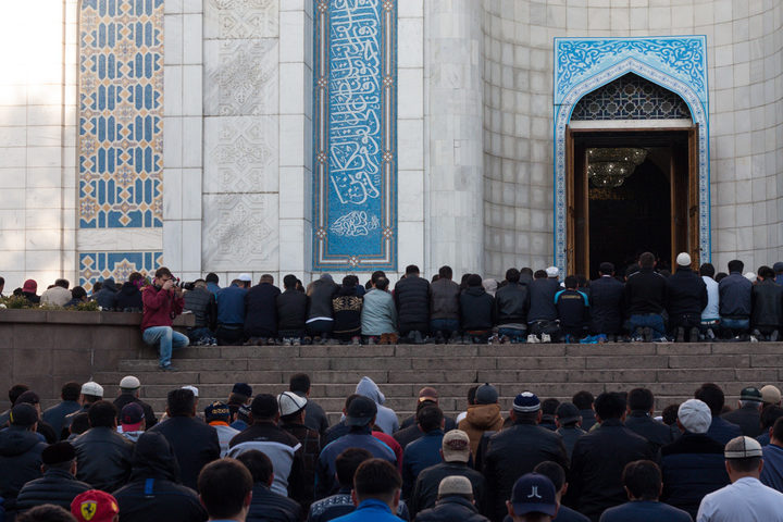 Eid Prayers at Almaty Central Mosque