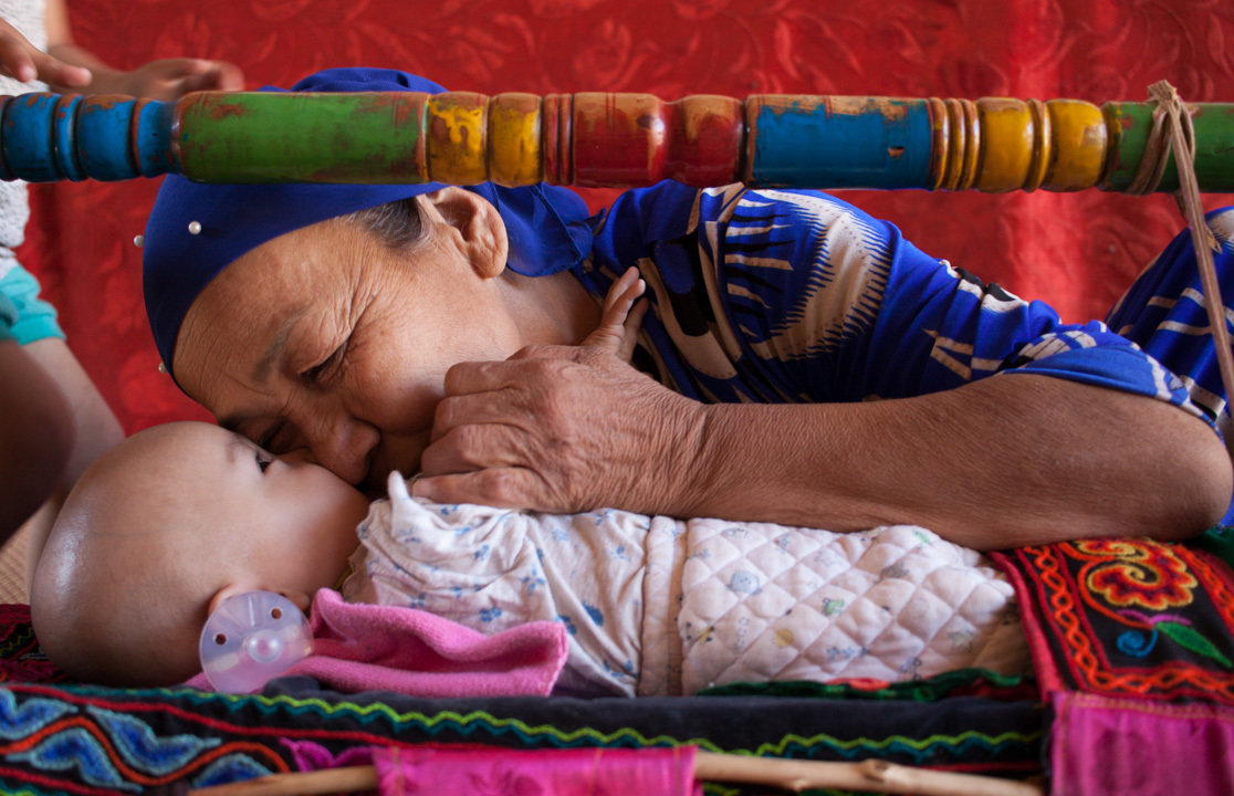 Uyghur Mother and Baby