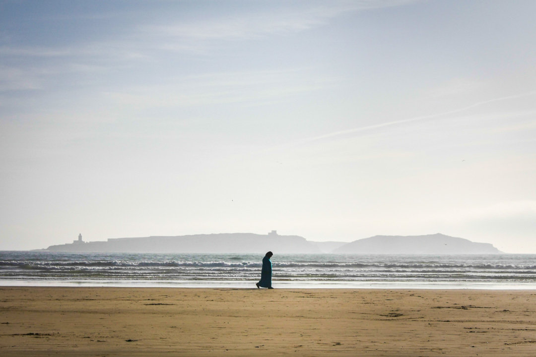 Morrocan Woman at the Beach